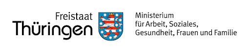 Logo Freistaat Thüringen, Ministerium für Arbeit, Soziales,                                                            Gesundheit, Frauen und Familie