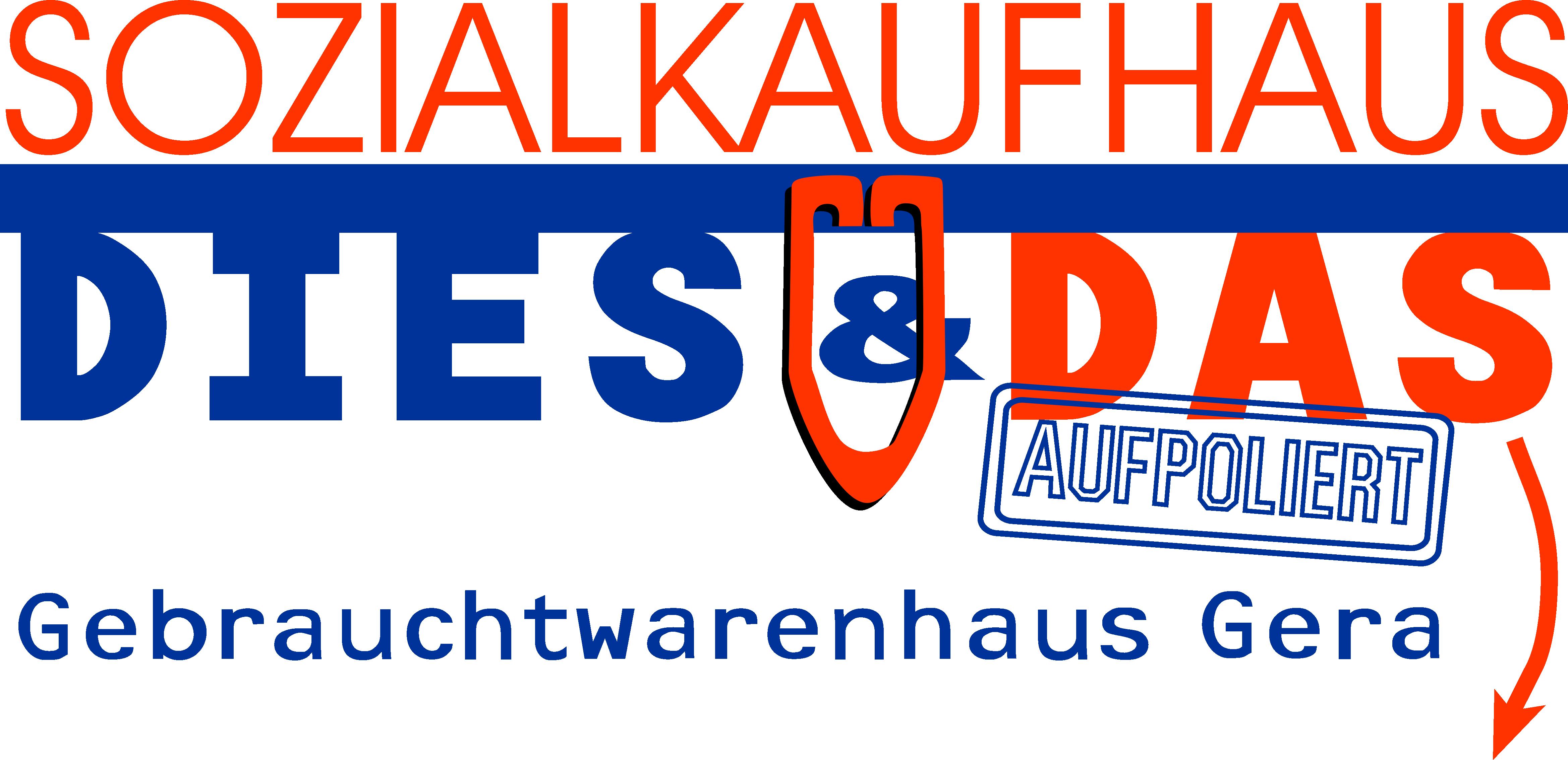 Logo des Gebrauchtwarenhauses mit Link zur Webseite.