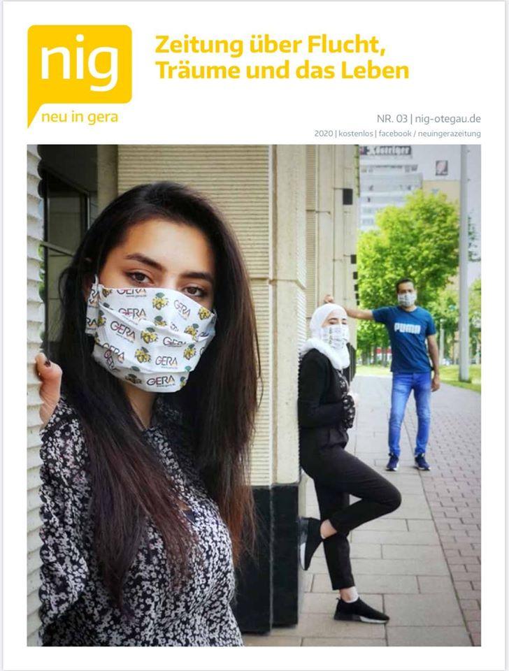 """Cover der 3. Ausgabe der Zeitung """"nig"""""""
