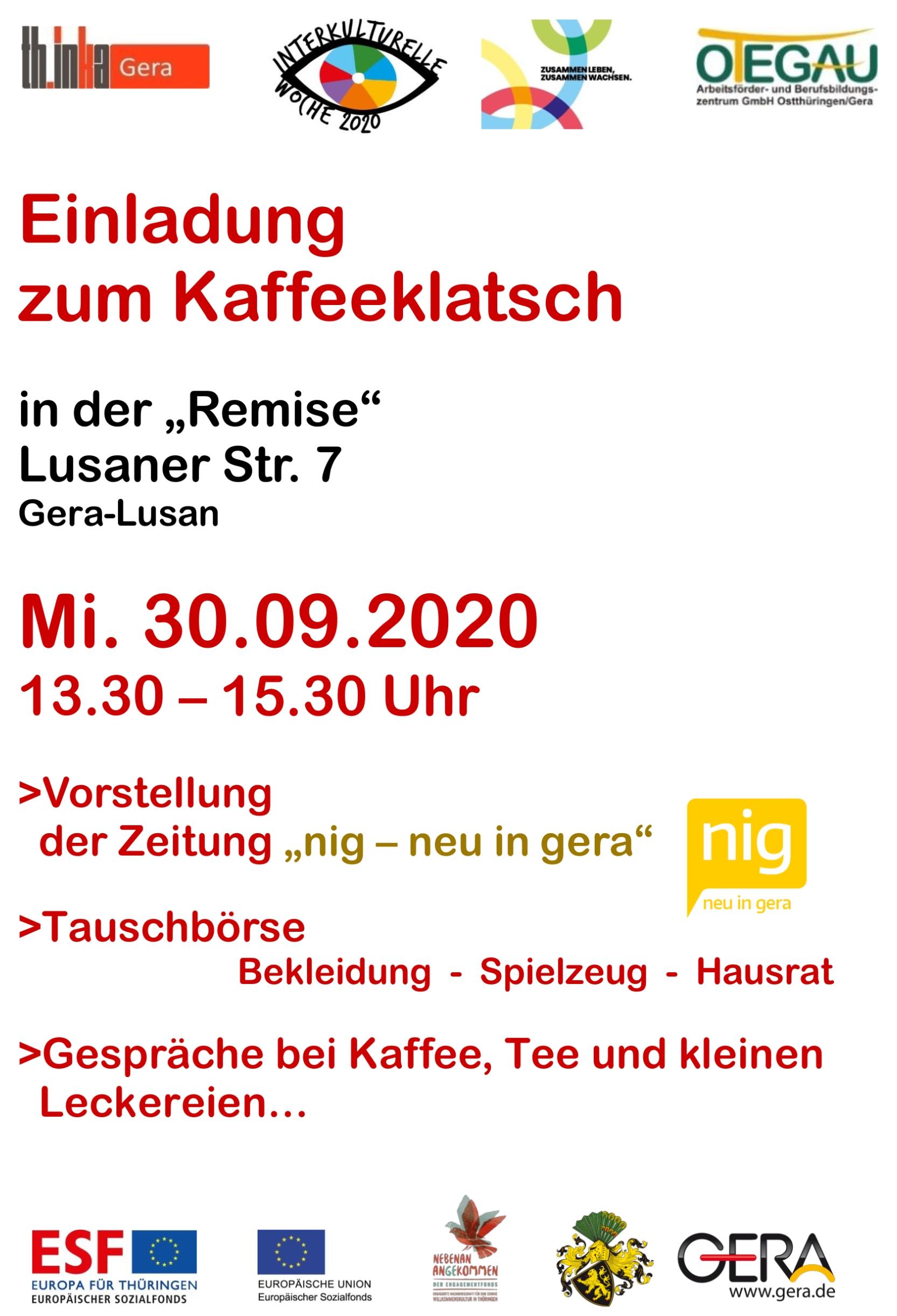 Plakat der Einladung